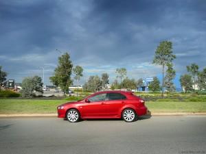 Červené auto s uzatvoreným PZP